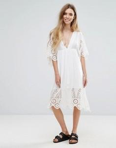 Кружевное платье Ganni Yoko - Белый