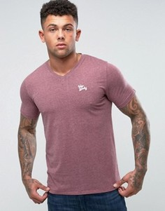 Меланжевая футболка с V-образным вырезом Tokyo Laundry - Красный