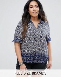 Рубашка Brave Soul Plus - Темно-синий