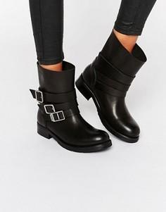 Байкерские ботинки с пряжками Hilfiger Denim - Черный