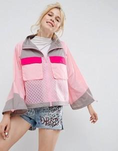 Куртка-дождевик с сетчатыми вставками ASOS - Мульти