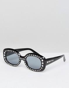 Квадратные декорированные солнцезащитные очки в стиле 90-х ASOS - Черный