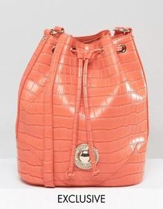 Сумка через плечо с затягивающимся шнурком Versace Jeans - Оранжевый