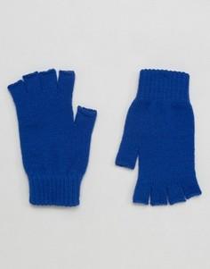 Синие перчатки без пальцев ASOS - Синий