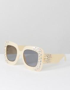 Большие квадратные солнцезащитные очки с декоративной отделкой ASOS - Мульти