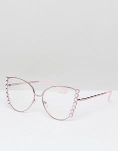 Очки кошачий глаз ASOS - Розовый