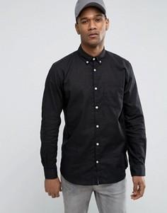 Узкая рубашка с длинными рукавами Jack & Jones Originals - Черный
