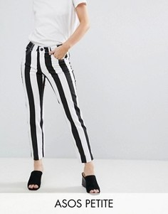 Прямые джинсы в полоску ASOS PETITE CASTILE - Черный