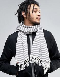 Легкий шарф в полоску Esprit - Серый