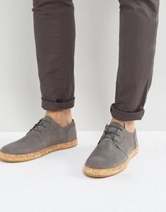 Кожаные туфли на шнуровке с пробковой подошвой Zign - Серый