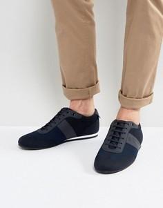 Темно-синие вязаные кроссовки BOSS Green by Hugo Boss - Темно-синий