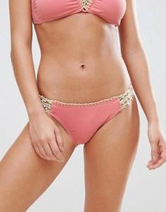 Ажурные бикини трусы-хипстеры Bikini Lab - Розовый