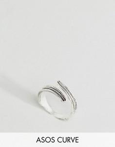 Кольцо с гравировкой ASOS CURVE - Серебряный