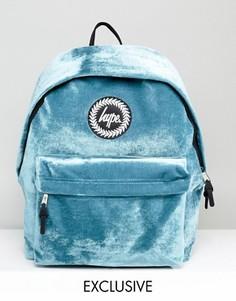 Сине-зеленый бархатный рюкзак эксклюзивно для Hype - Синий