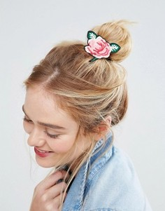 Резинка для волос ограниченной серии с вышивкой розы - Мульти Asos