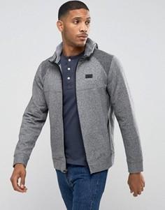 Худи серого цвета в стиле колор блок на молнии Abercrombie & Fitch - Серый