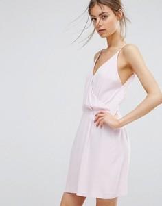 Короткое платье с кружевной отделкой Samsoe & Samsoe Ginni - Розовый