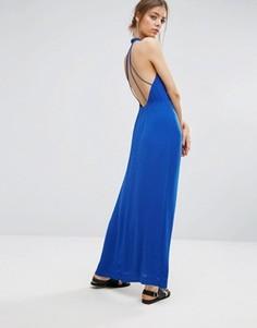 Длинное платье Samsoe & Samsoe Hannah - Синий