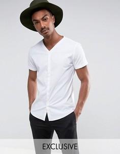 Приталенная рубашка с короткими рукавами и скрытой планкой Noak - Белый