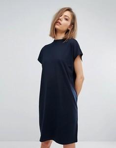 Платье с высоким воротом Weekday - Темно-синий