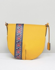 Сумка через плечо с броским ремешком Glamorous - Желтый