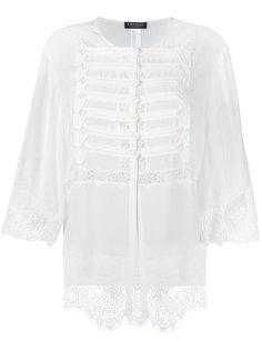 блузка с кружевной отделкой на пуговицах Twin-Set