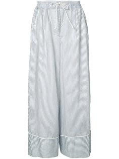 широкие брюки в полоску Sacai