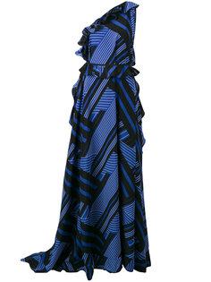 вечернее платье на одно плечо MSGM