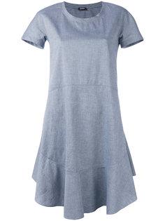 расклешенное платье Jil Sander Navy