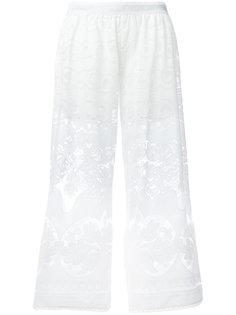 ажурные укороченные брюки с вышивкой Just Cavalli