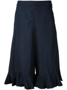 укороченные брюки с оборками  Muveil