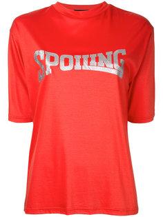 футболка Spoiling с блестками G.V.G.V.