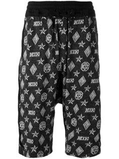 шорты с монограммным принтом KTZ