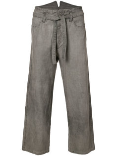 укороченные брюки с поясом Horisaki Design & Handel