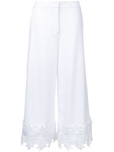 укороченные брюки с кружевной отделкой Sara Battaglia