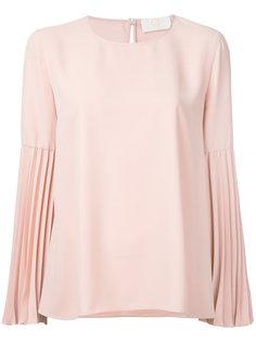 блузка с плиссировками на рукавах Sara Battaglia