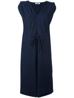 однотонное платье с запахом Jil Sander