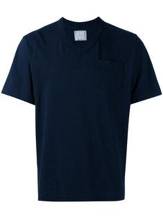 футболка с V-образным вырезом Sacai