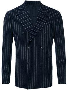 двубортный пиджак в тонкую полоску Lardini