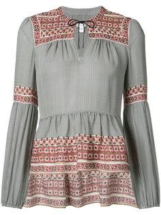 блуза с баской Veronica Beard