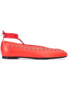 балетки Boxing на шнуровке Paco Rabanne