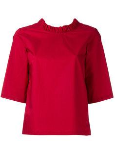 блузка с рюшами и короткими рукавами Rocco  Lareida