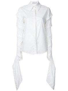 рубашка с драпировками на рукавах Juan Hernandez Daels