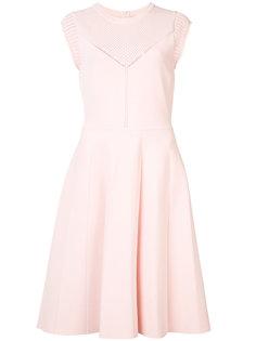перфорированное платье-миди с короткими рукавами Lela Rose