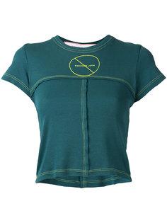 укороченная футболка с простроченной отделкой Eckhaus Latta