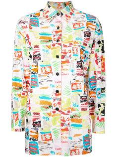 рубашка с принтом и длинными рукавами  Chanel Vintage