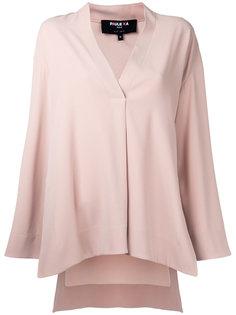 блузка с V-образным вырезом Paule Ka