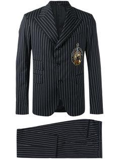 костюм-двойка в тонкую полоску Dolce & Gabbana