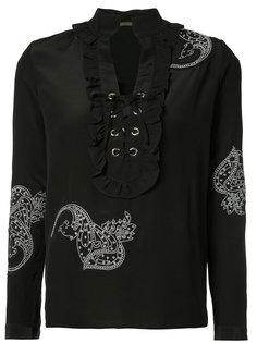 блузка со шнуровкой спереди Dodo Bar Or
