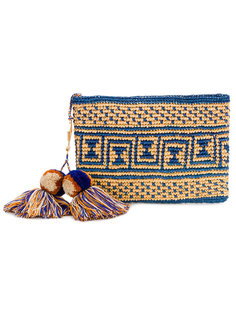 сумка с помпонами и кисточками  Yosuzi